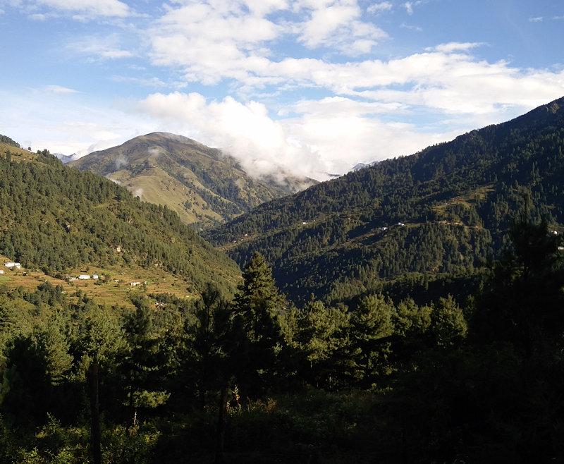 Landschaft in der Nähe von Phaplu in Nepal