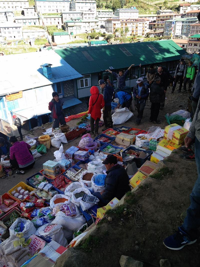 Der Markt in Namche Bazar