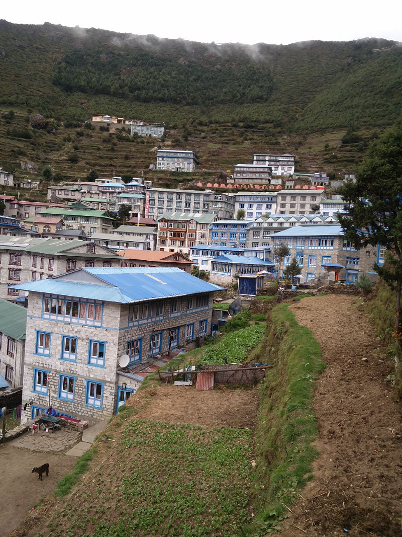 Namche Bazar in Nepal