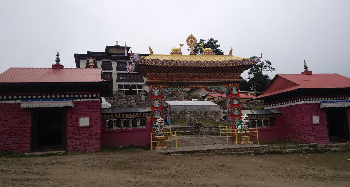 Monastary bzw. Tempel bei Tengboche in Nepal