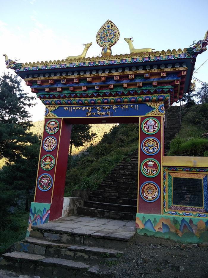 Tor zum Kloster bei Kharikhola