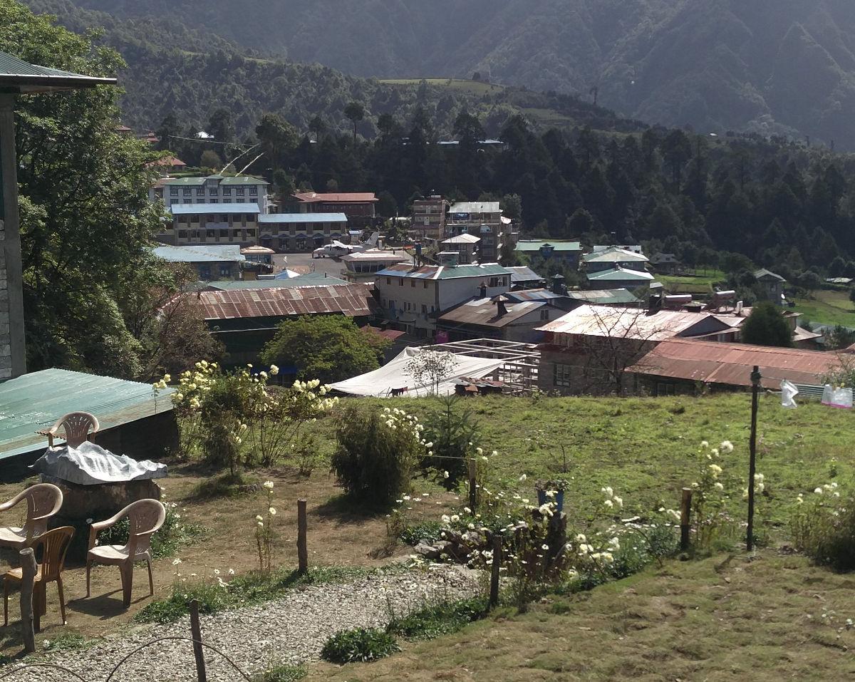 Aussicht auf Lukla in Nepal