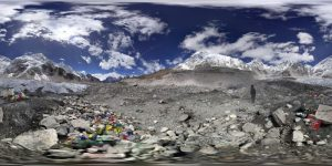 360 Grad Panorama-Photosphere-Aufnahme vom Everest Base Camp-Trekking-Nepal klein