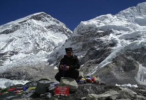 Knoten Knut und beim Mount Everest Base Camp in Nepal (Beim Mount Everest Base Camp in Nepal)