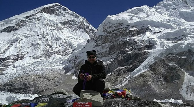 Beim Mount Everest Base Camp in Nepal