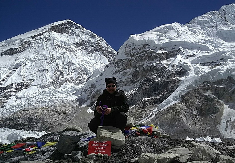 Knoten Knut und beim Mount Everest Base Camp in Nepal