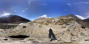 Landschaft Dingboche 360 Grad Panorama Photosphere Aufnahme Trekking Nepal klein