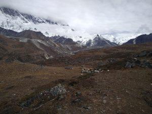 Landschaft beim Ama Dablam beim Trekking in Nepal (Trekking in Nepal: Auf dem Ama Dablam)