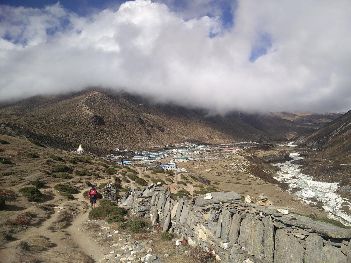 Hocheben vor Dingboche Nepal