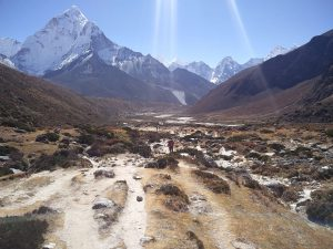 Das Windy Valley in Nepal (Trek nach Phortse über Windy Valley und Upper Pangboche)