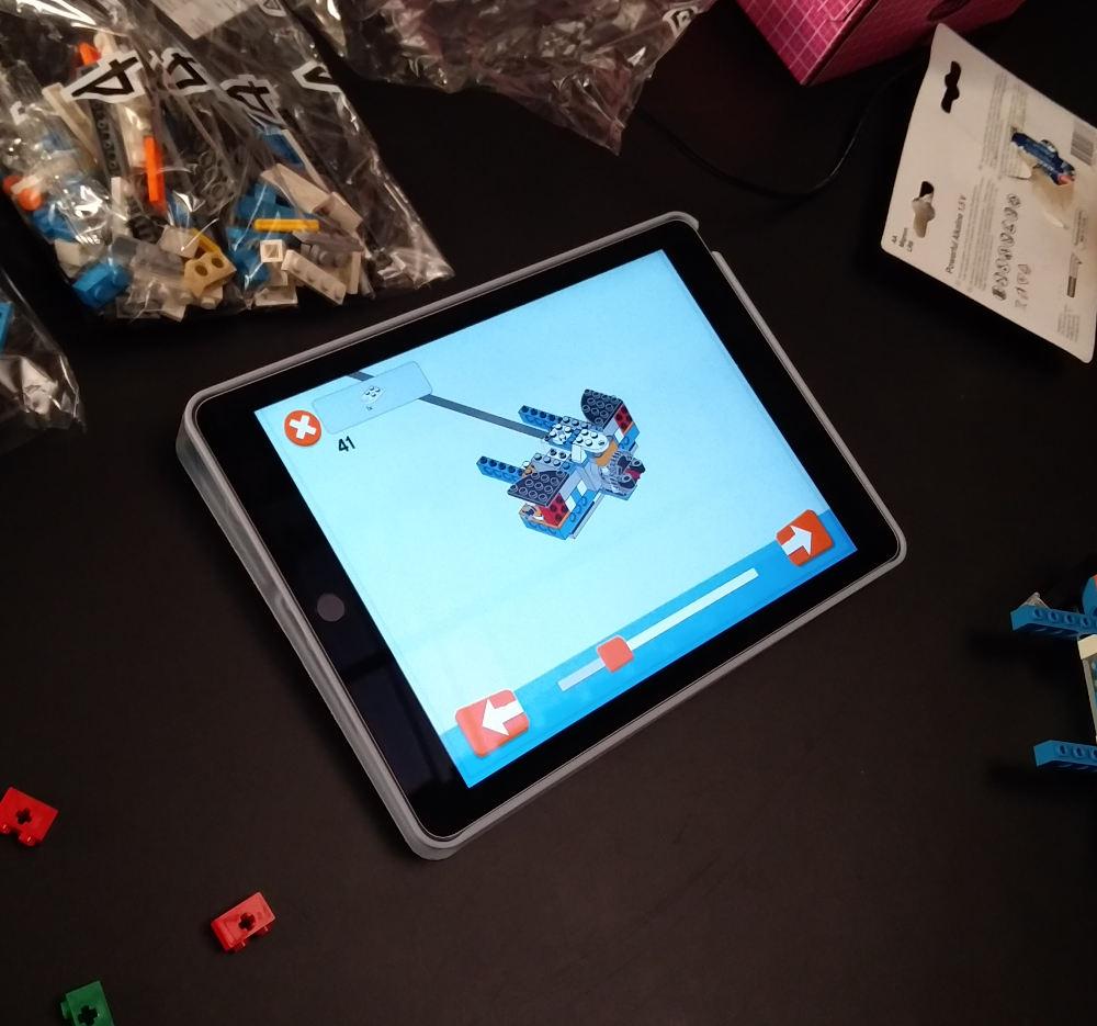 Die Anleitung in der Lego-App