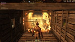 Brennendes Haus bei Shroud of the Avatar (Shroud of the Avatar: Forsaken Virtues – Ein erster Eindruck)