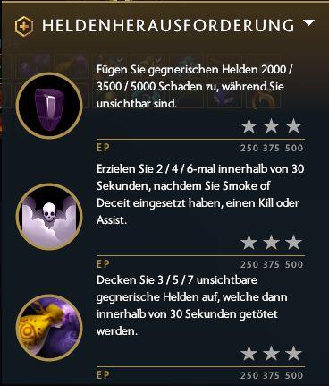 Dota Plus Battle-Pass-Aufgaben bzw. Heldenherausforderungen