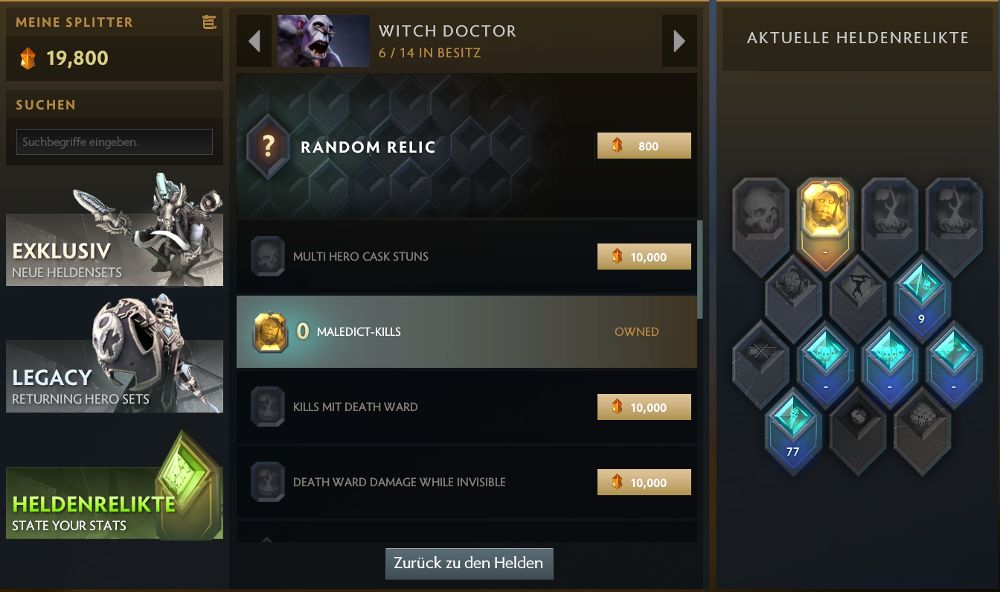Dota Plus Helden Relikte vom Witch Doctor