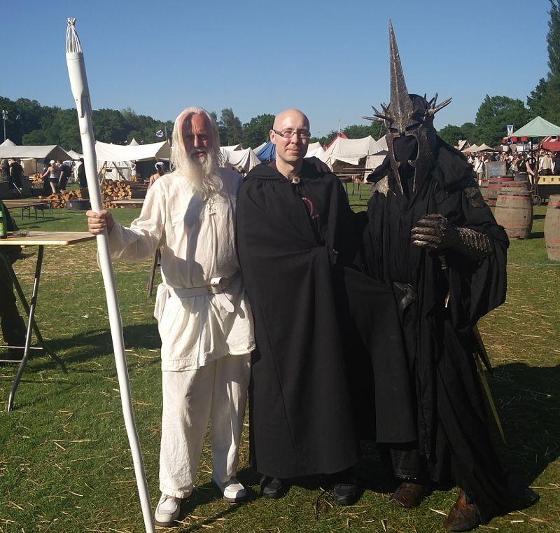 Gandalf und der Hexenkönig von Angmar auf dem MPS in Rastede - Mittelalterliches Phantasie Spectaculum