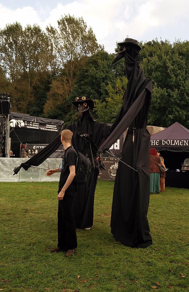Steampunk Dementorenartige Kostüme auf dem MPS Öjendorf