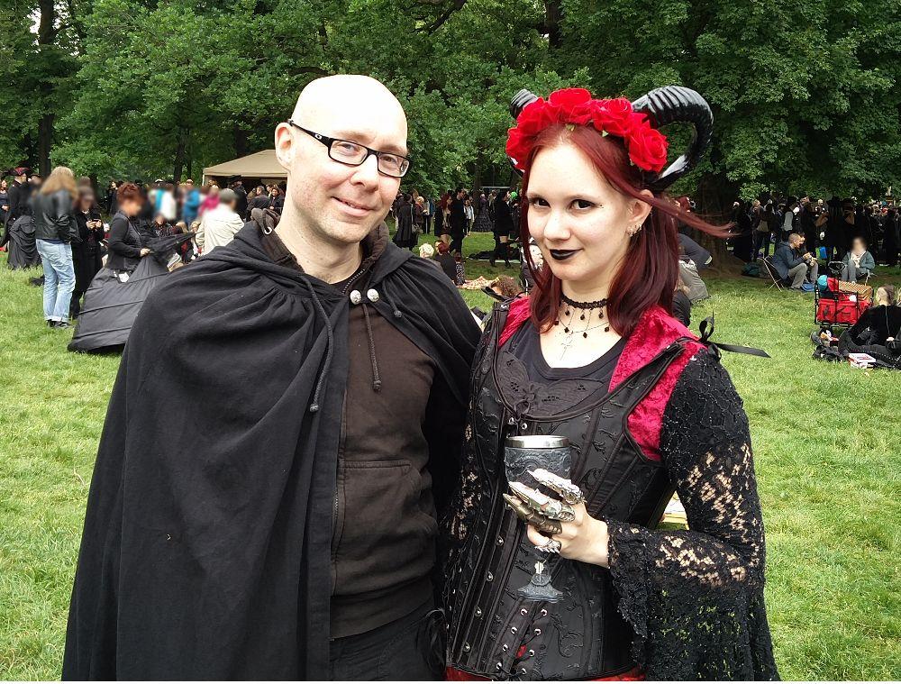 Auf dem Viktorianischen Picknick beim Wave Gotik Treffen (WGT) 2018 in Leipzig