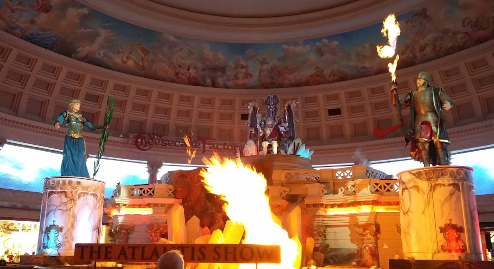 Die Atlantis Show im Caesars in Las Vegas