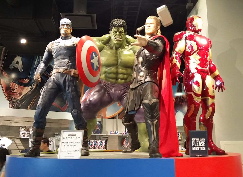 Die Avengers in der Marvel Avenger Station in Las Vegas