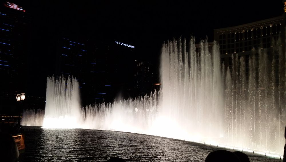 Die Fontänen vom Bellagio in Las Vegas