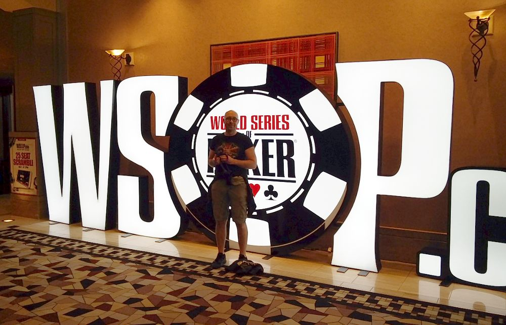 Knoten Knut und ich bei der World Series of Poker in Las Vegas WSOP