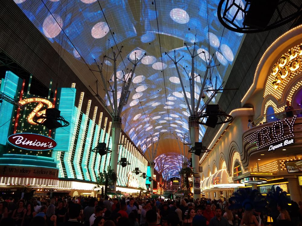 LED Show Downtown Fremont Street in Las Vegas