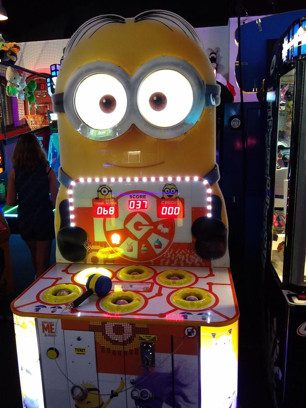 Minions Whac-A-Mole in einer Spielhalle in Las Vegas