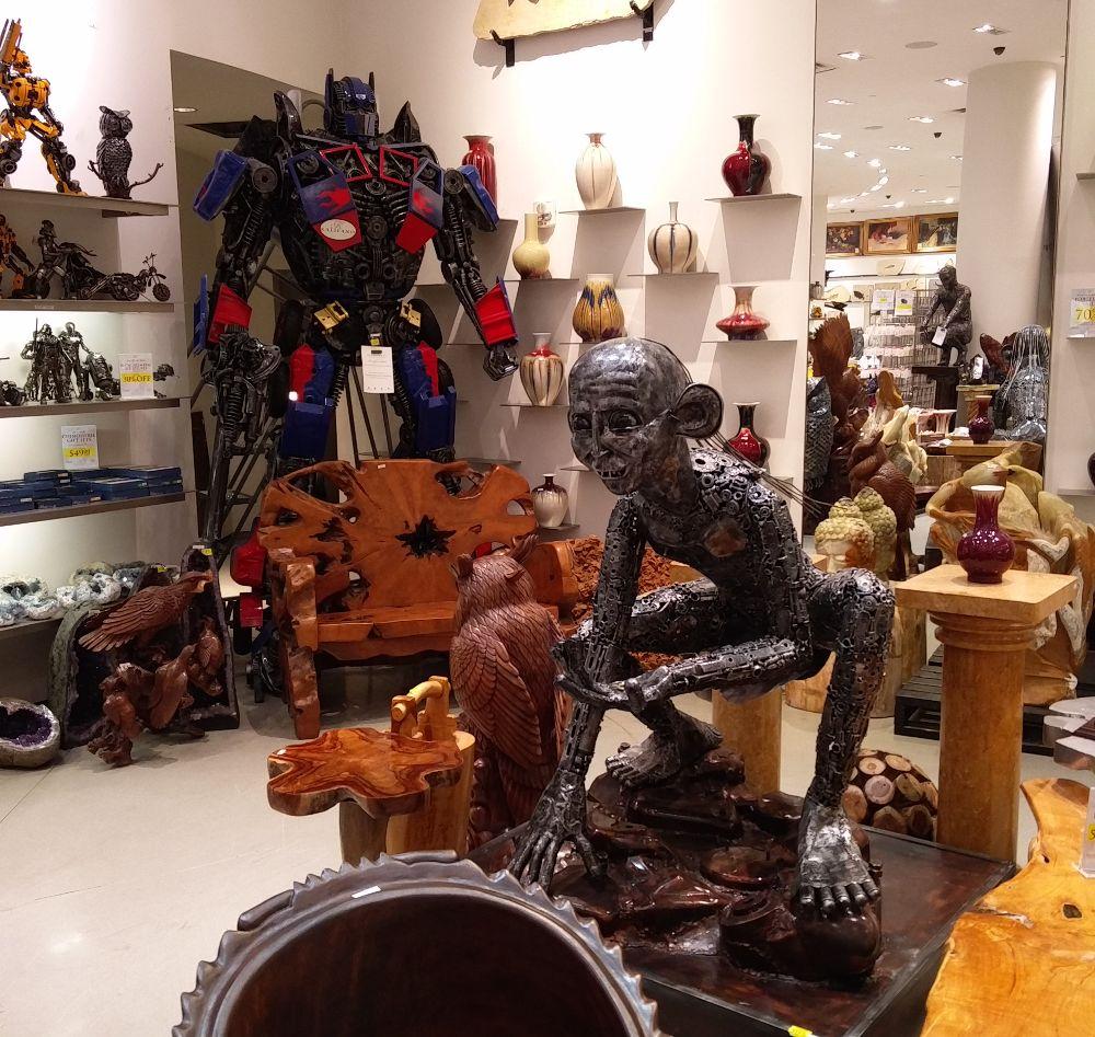 Smeagol und Optimus Prime im Kalifano in Las Vegas