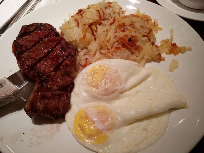 Steak Frühstück im Magnolia's in Las Vegas