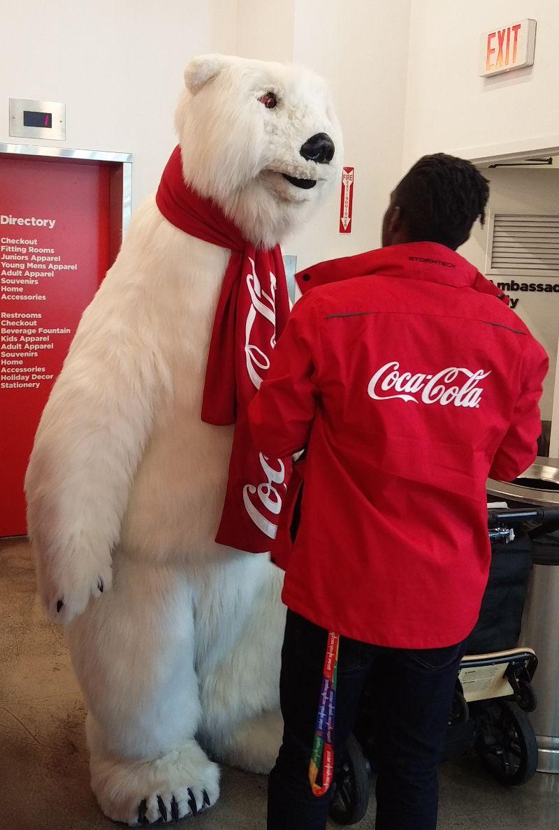 Coca Cola Eisbär in der Coca Cola World in Las-Vegas