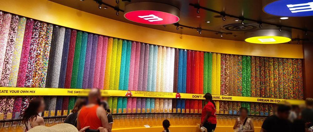 Süßigkeiten im M&M Store in Las Vegas