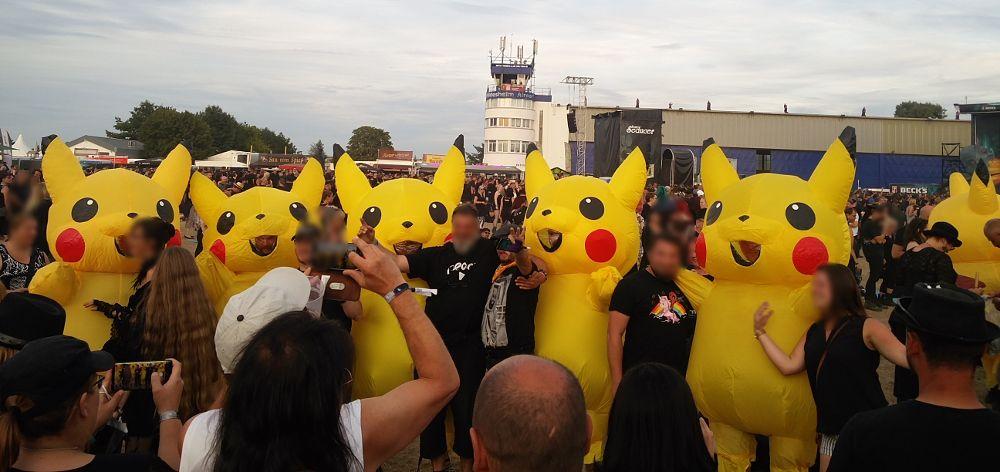 Pikachu Invasion auf dem M'era Luna 2018
