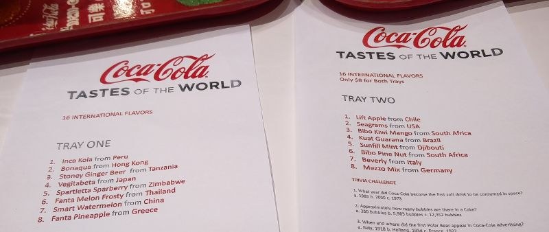 Tastes of the World in der Coca-Cola World in Las Vegas