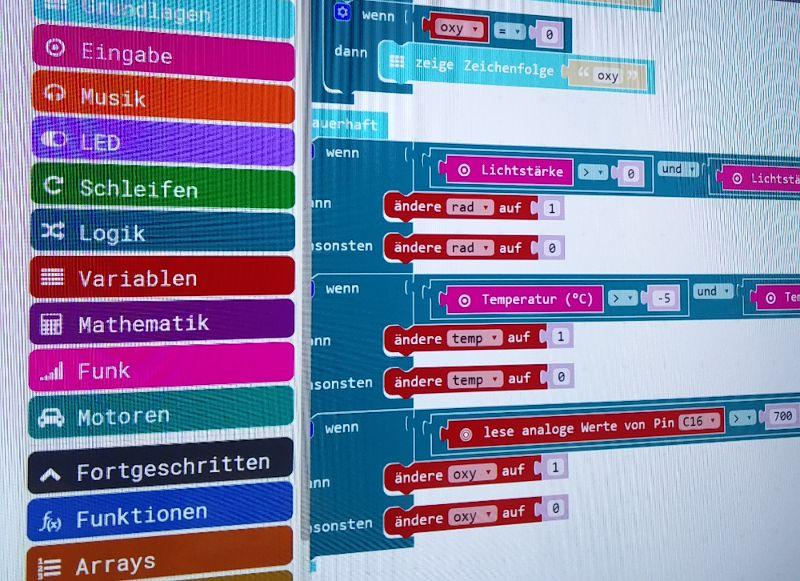 Interface zur Programmierung des Calliope Mini