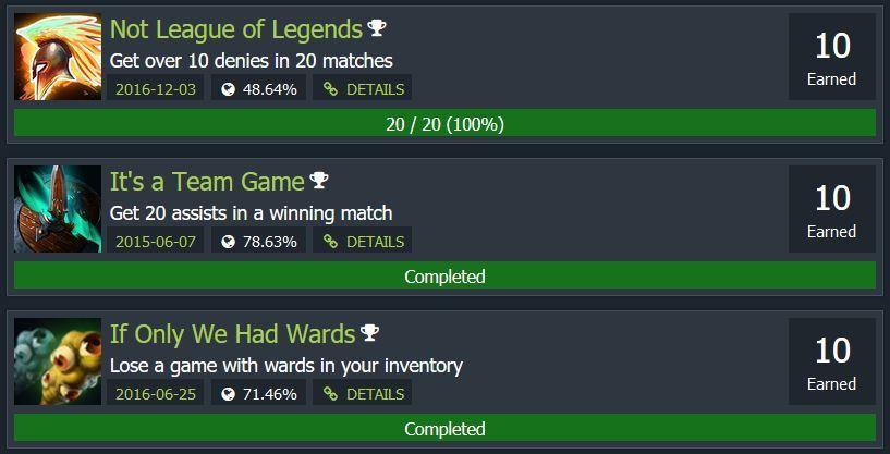 Dota Buff General Achievements