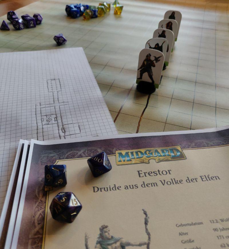 Midgard Battlemap Gratisrollenspieltag 2019 im Würfel und Zucker