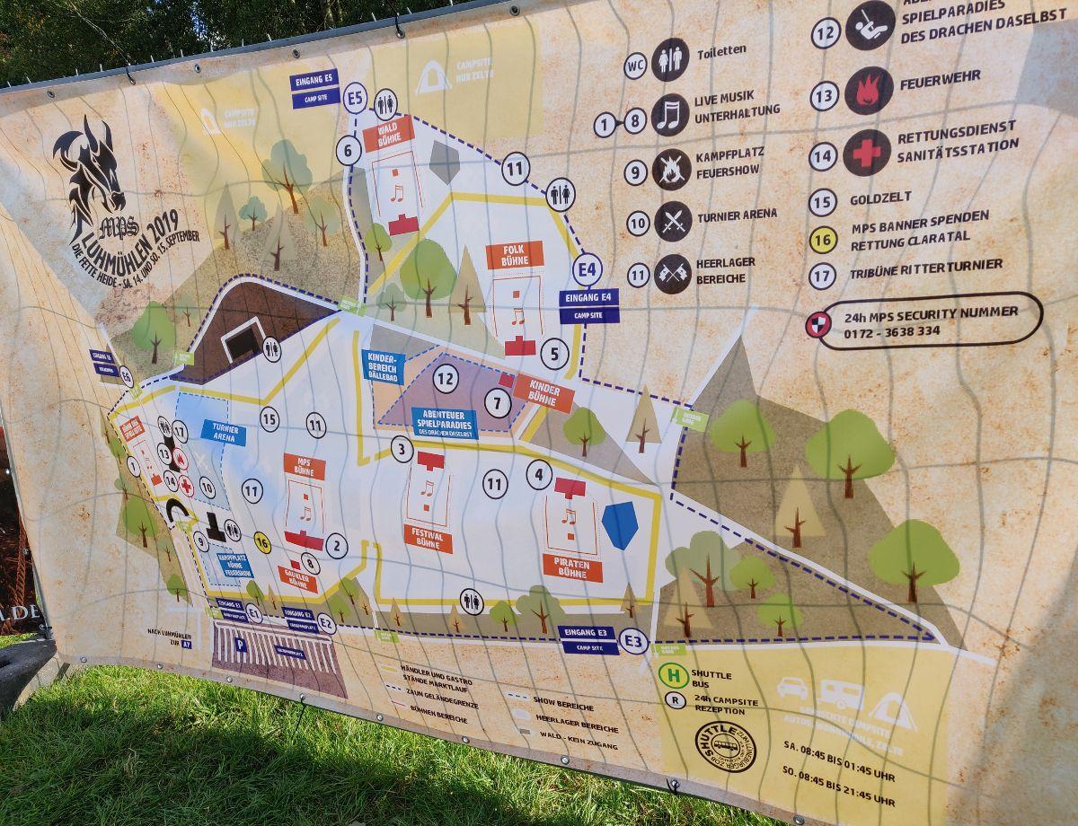 Lageplan und Aufbau der fetten Heide. Plan vom MPS Luhmühlen