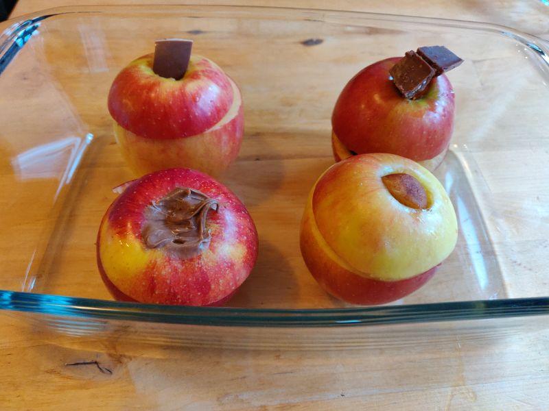 Bratäpfel bevor sie in den Ofen kamen