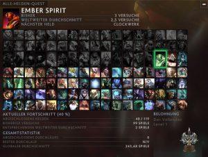 Dota: Alle Helden Quest bzw. die All-Hero-Challenge (Meine Pläne für das Jahr 2020)