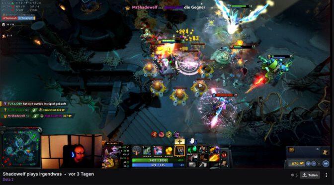ShadowelfTV – Ich streame nun auf Twitch