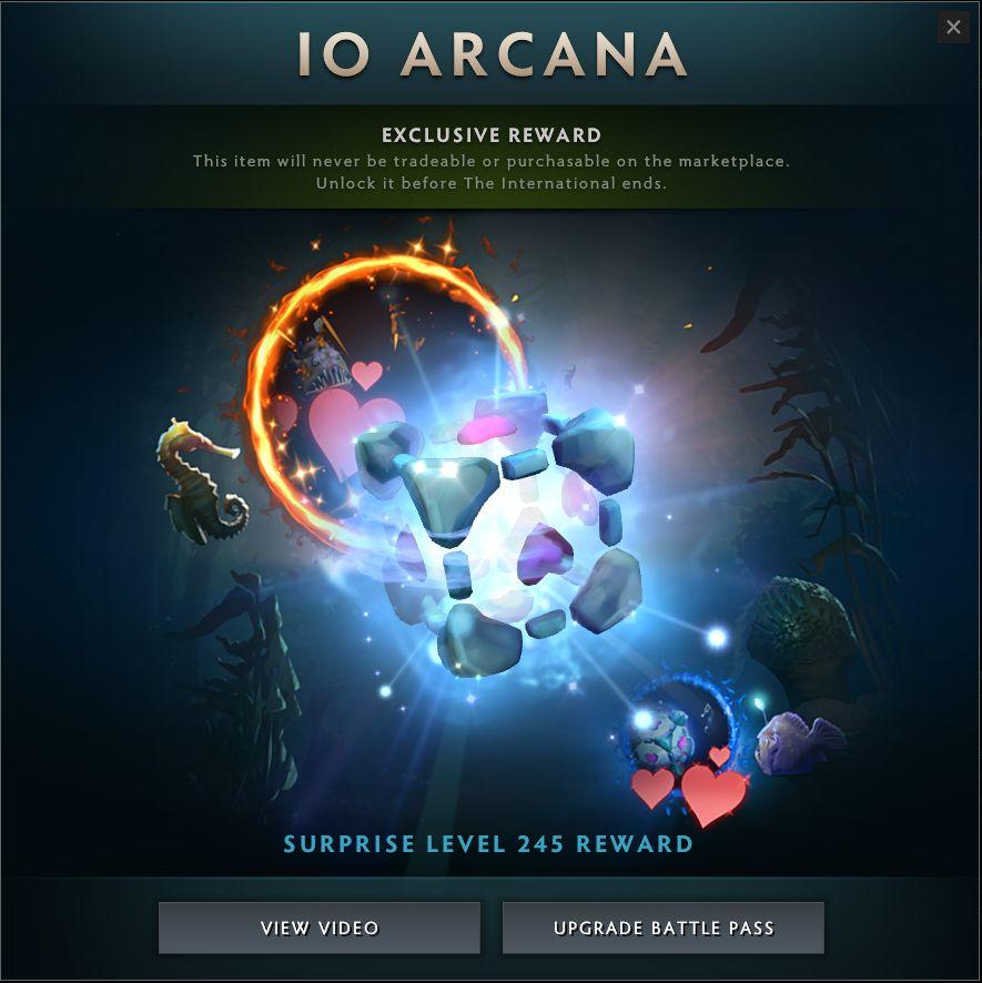 Io Arkana als Companion Cube Portal Dota Battle Pass